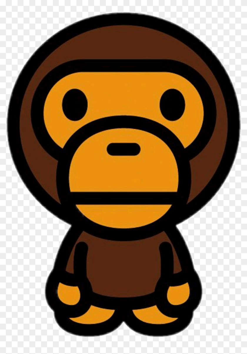 Monke Sticker - Baby Milo Shirt Bape Clipart@pikpng.com