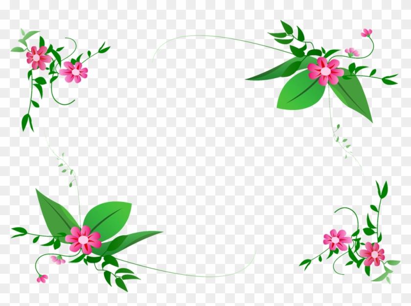 Flower Border Line Design Group Graphic Free Download - Flower Vector Border Png Clipart #52627