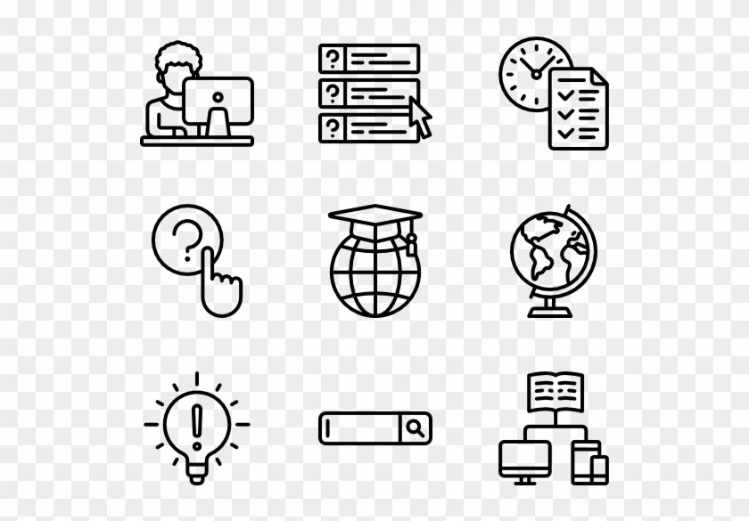 E-learning - Manufacturing Icons Clipart #56134