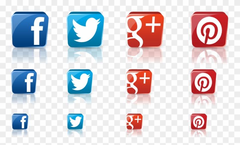3d Social Media Icon Png - Social Medias Logos 3d Clipart #56274