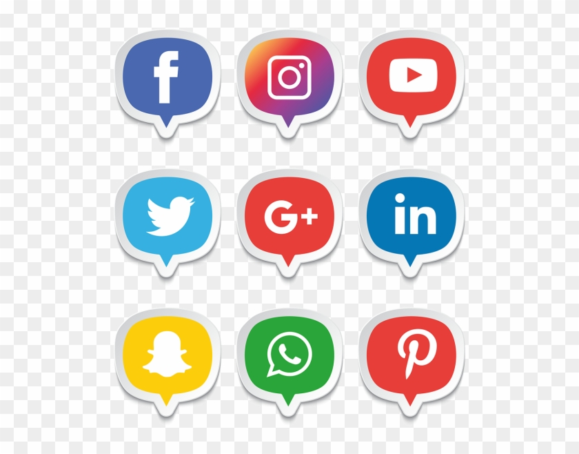 Vector Free Media Icons Set Logo Illustrator Png And - Facebook And Instagram Icon Png Clipart #56754
