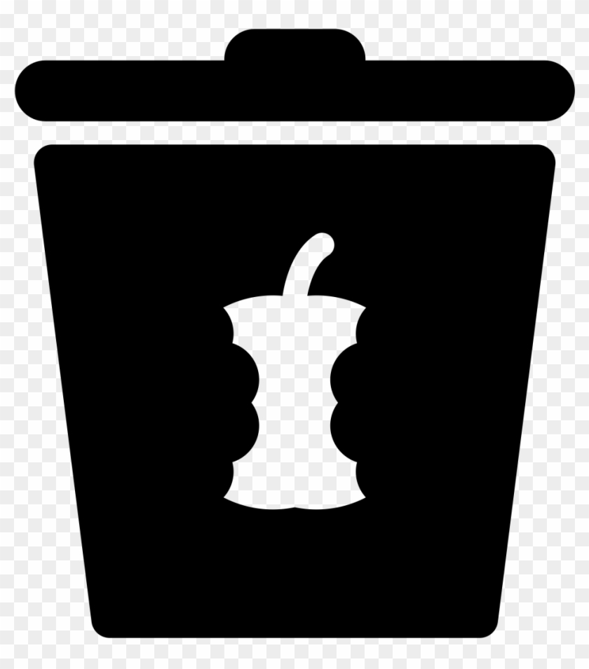 Noun Apple Icon Food Waste Black And White Clipart 56774 Pikpng