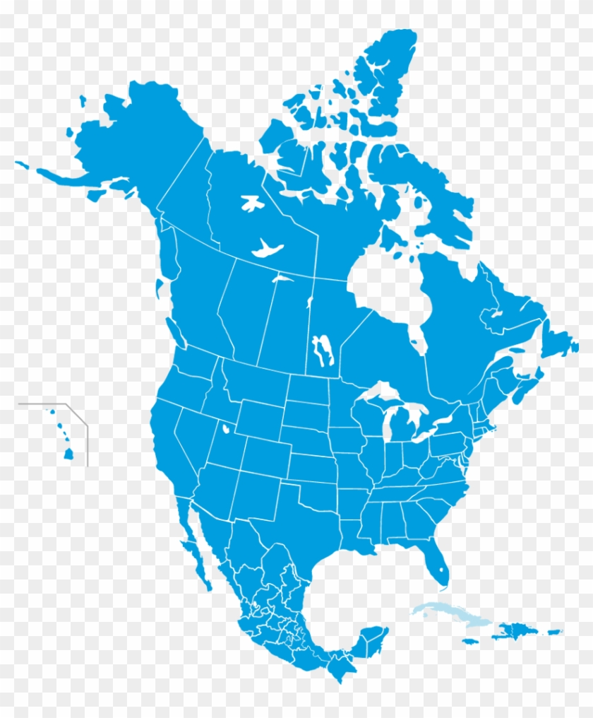 Come Meet Us - Map Of North America 2018 Clipart #57628