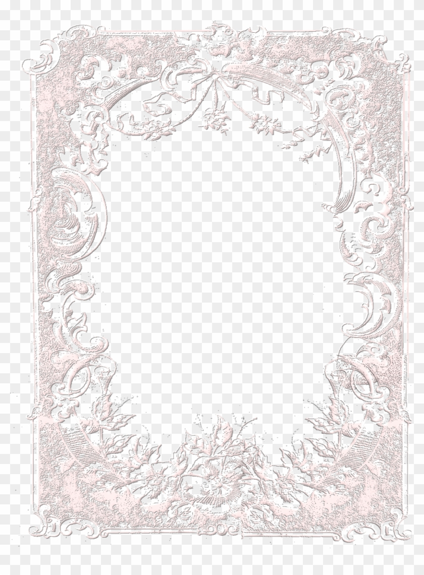 White Lace Frame Png - Black Lace Frame Transparent Background Clipart #500955