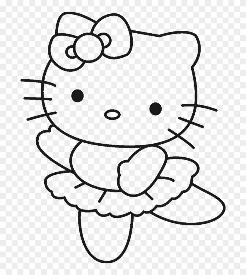 These Drawing Hello Kitty Coloring Pages For Free Drawing Hello Kitty Ballerina Coloring Pages Clipart 505204 Pikpng