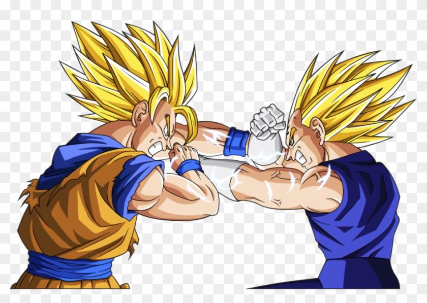 Quem Viveu Os Anos 90 E Descobriu Os Games De Luta, - Goku Y Vegeta Ssj2 Clipart #505595