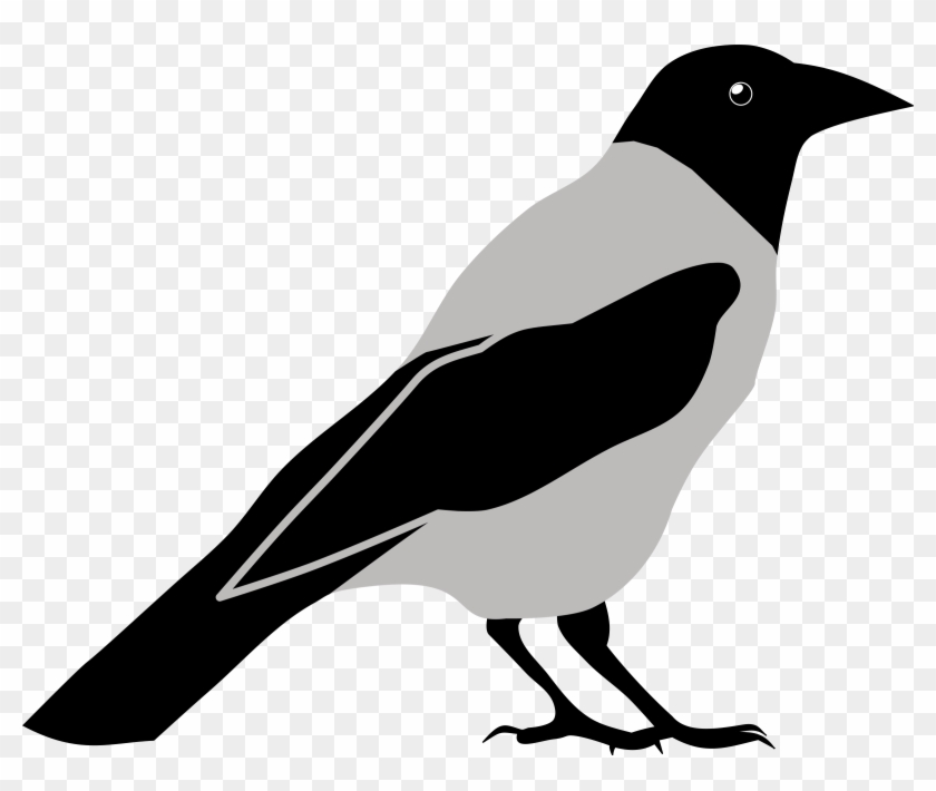 Clip Royalty Free Library Clip Art Black And White - Crow Clip Art Black And White - Png Download #505998
