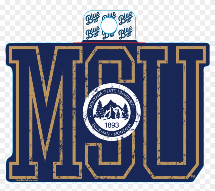 Decal Msu Seal - Montana State University Seal Clipart #5001727