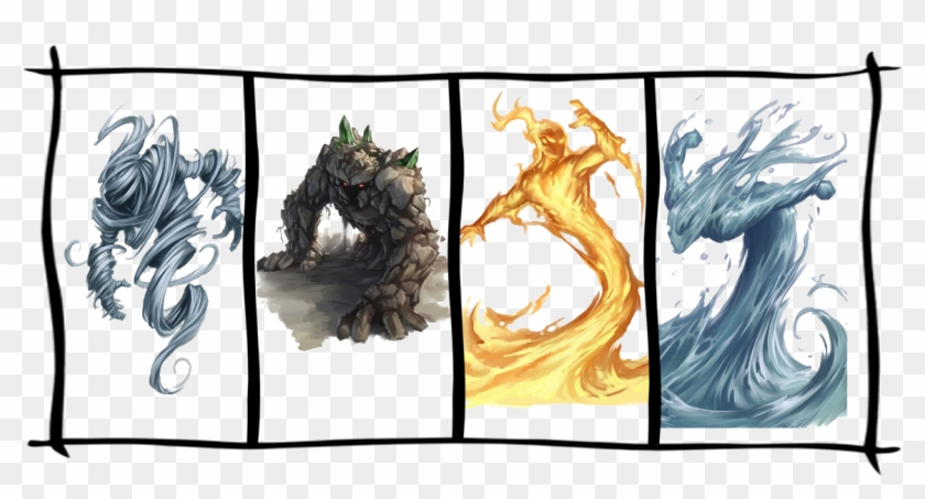 There Are 4 Type Of Elementals - Elemental Clipart #5044180