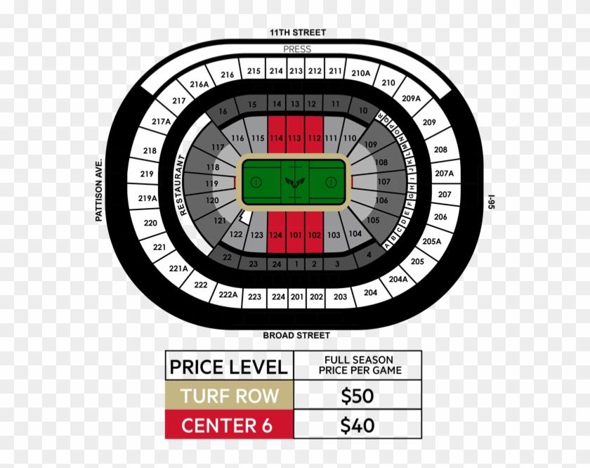 Seating Map - Wells Fargo Center Clipart #5046776