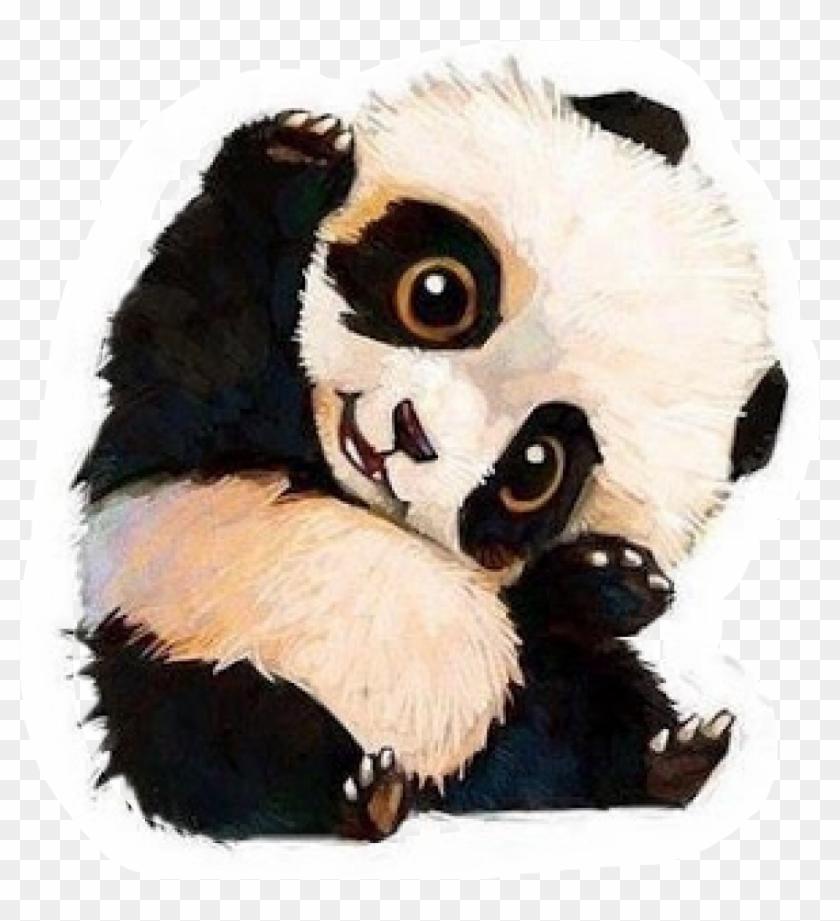 Panda Cub Chibi Kawaii 🐼freetoedit - Cute Baby Panda Drawing Clipart #5050676