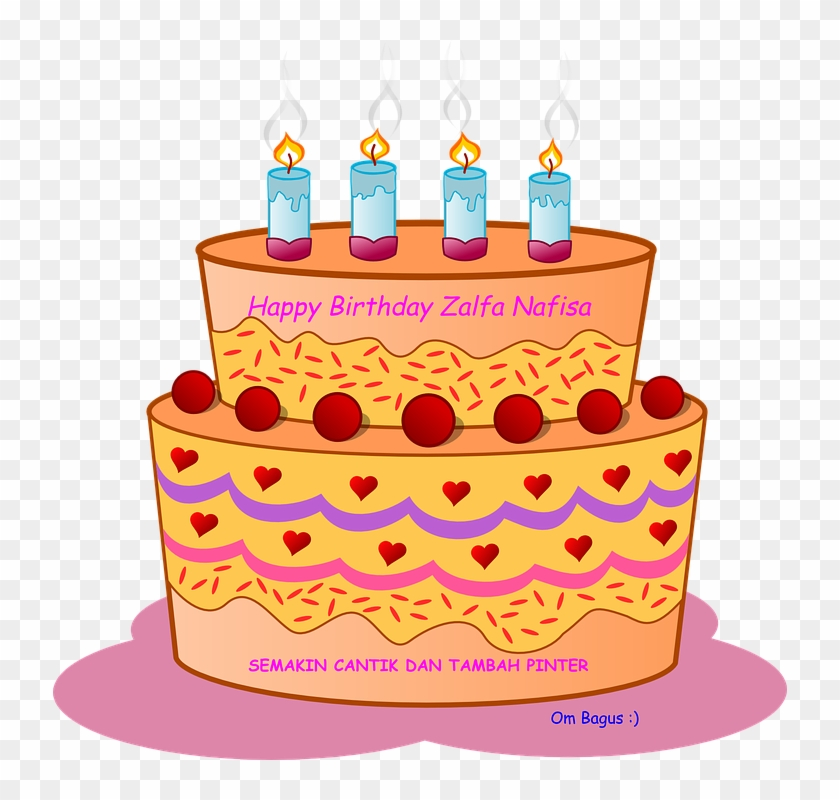 Birthday Cake Celebration Party Food Sweet Candle - Birthday Cake Clip Art - Png Download #5052921
