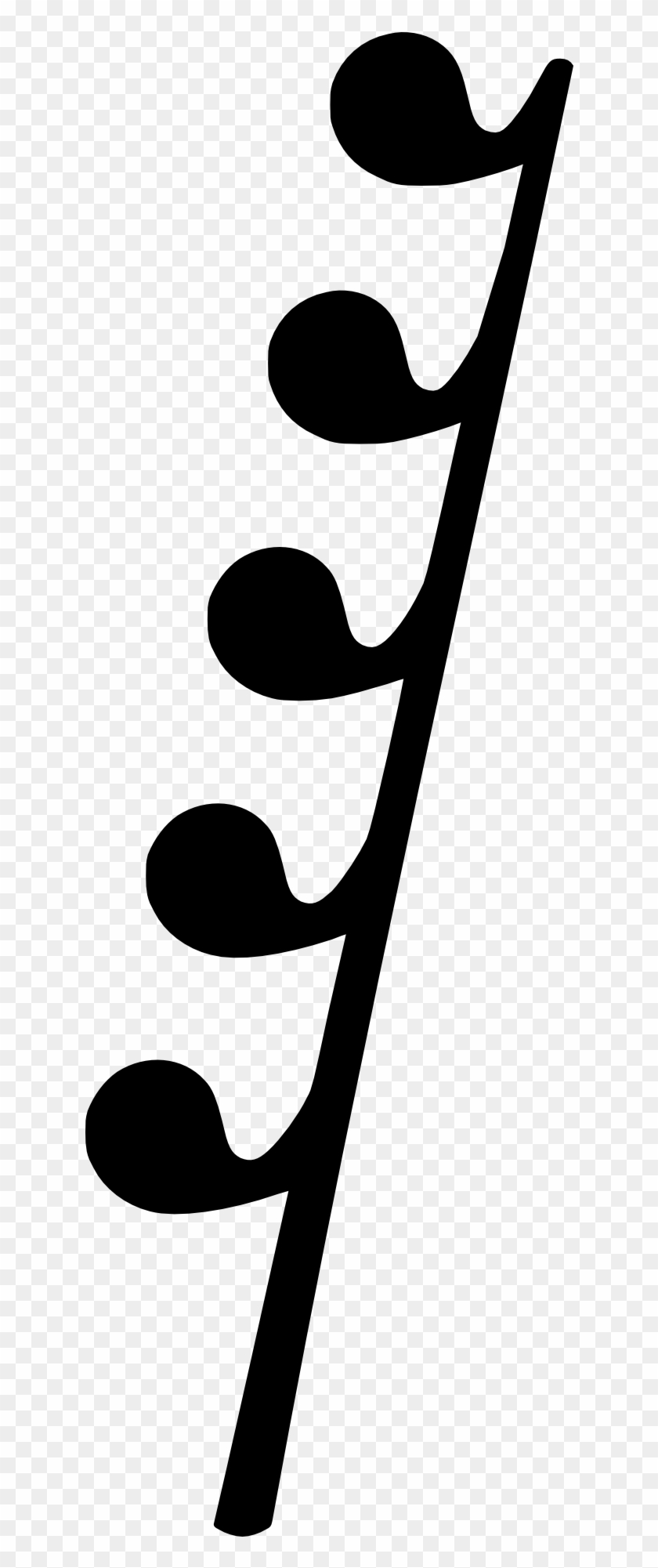 Music Note Musical Notation Symbol - 128th Rest Clipart #5057678