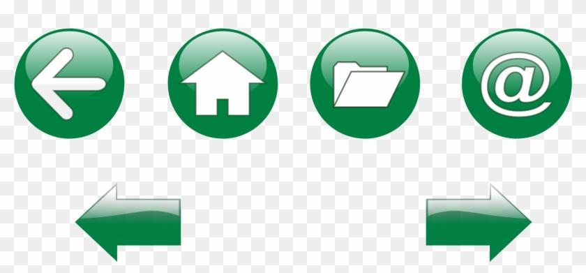 Buttons Clip Art - Navigation Button Icon - Png Download #5063349