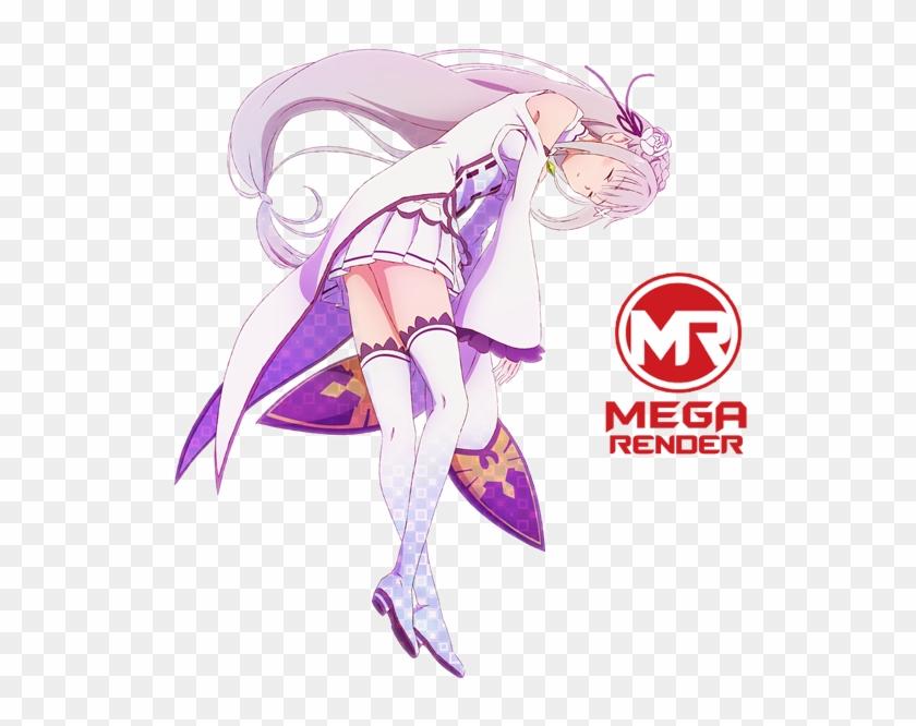 Re Zero Anime Emilia3 Mega Render - Re:zero − Starting Life In Another World Clipart #5085517