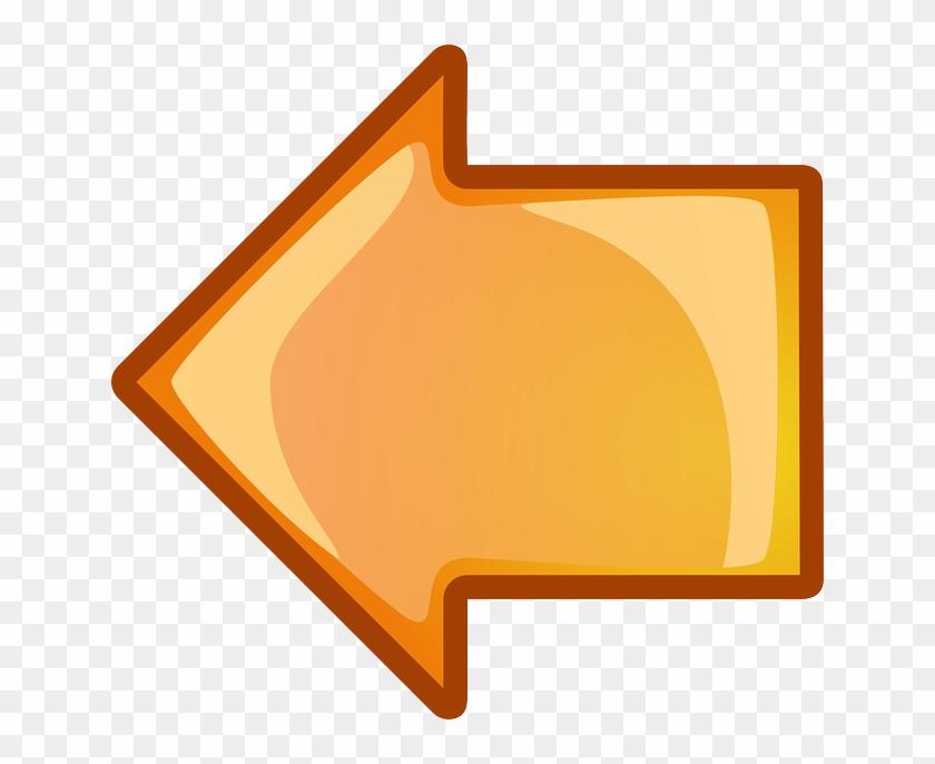 Computer, Back, Icon, Left, Right, Arrow, Cartoon - Left Arrow Png Orange Clipart #5091248