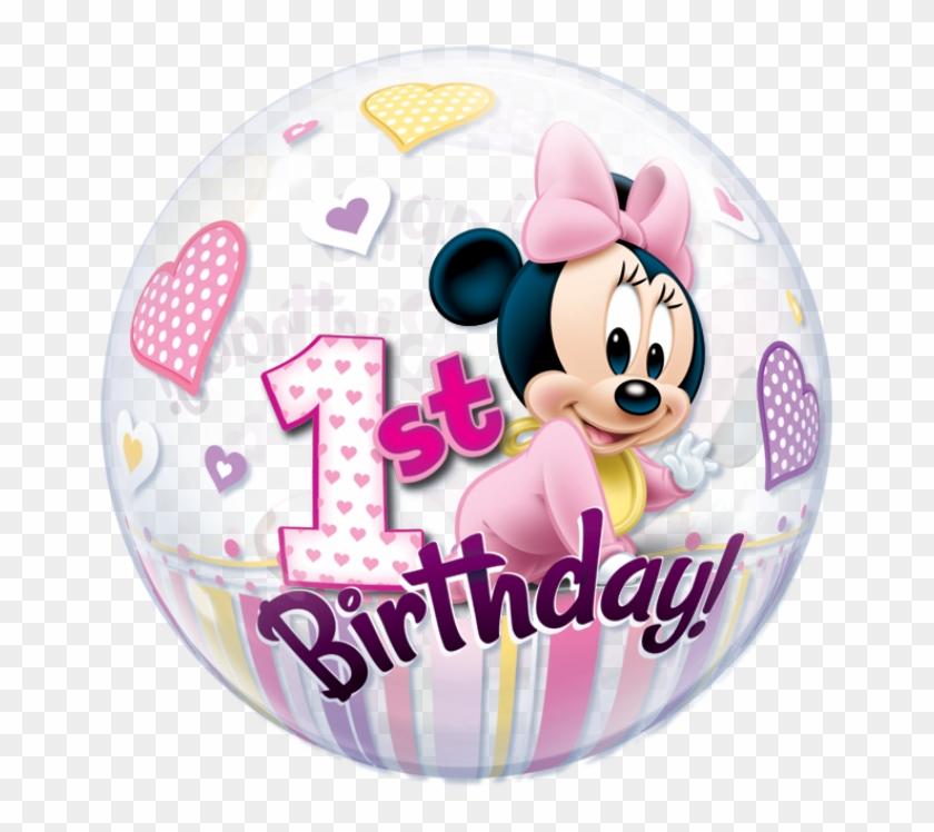 Minnie Mouse 1st Birthday - Disney Minnie Mouse 1st Birthday Clipart #5091326