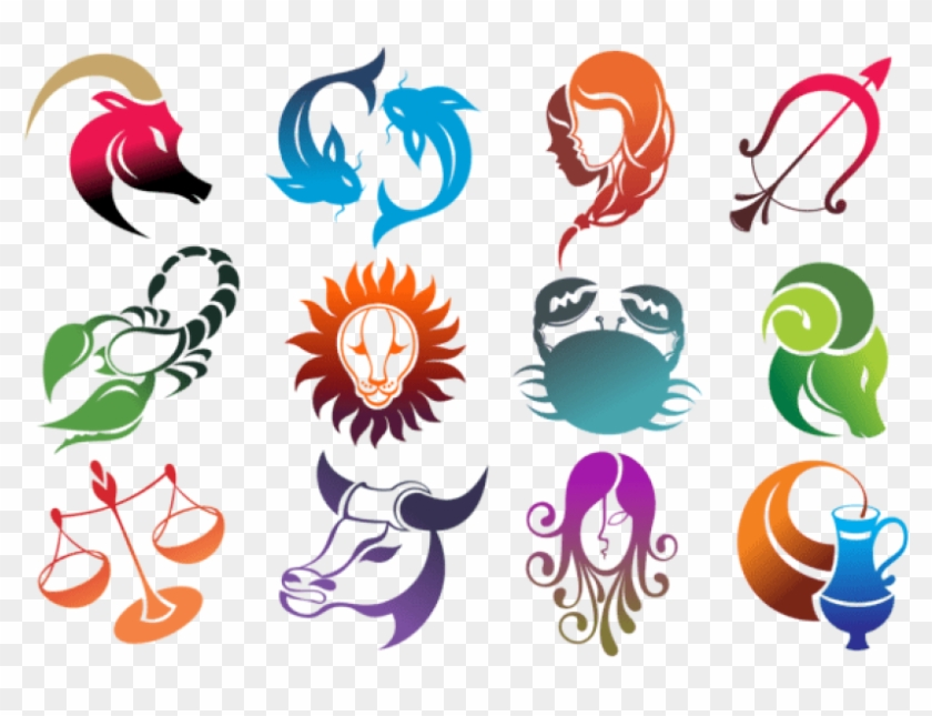 Free Png Colourful Zodiac Signs Set Large Png Images Star Sign Clipart Transparent Png 5092166 Pikpng
