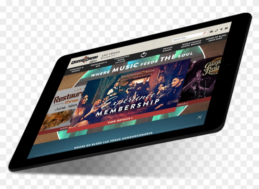 House Of Blues - Tablet Computer Clipart #5093007