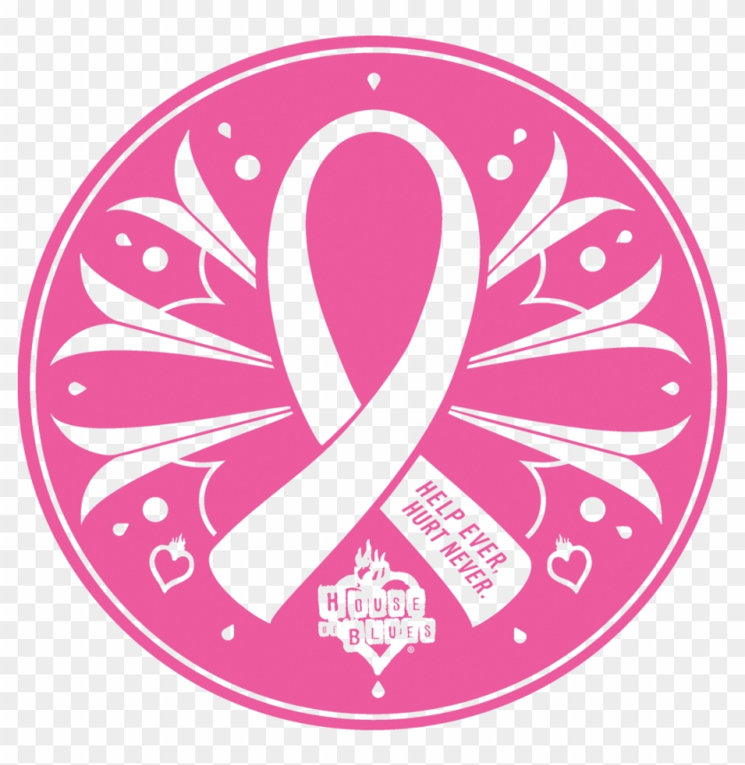 House Of Blues Is Proud To Support Breast Cancer Awareness Breast Cancer Awareness Png Logo Clipart 5093522 Pikpng