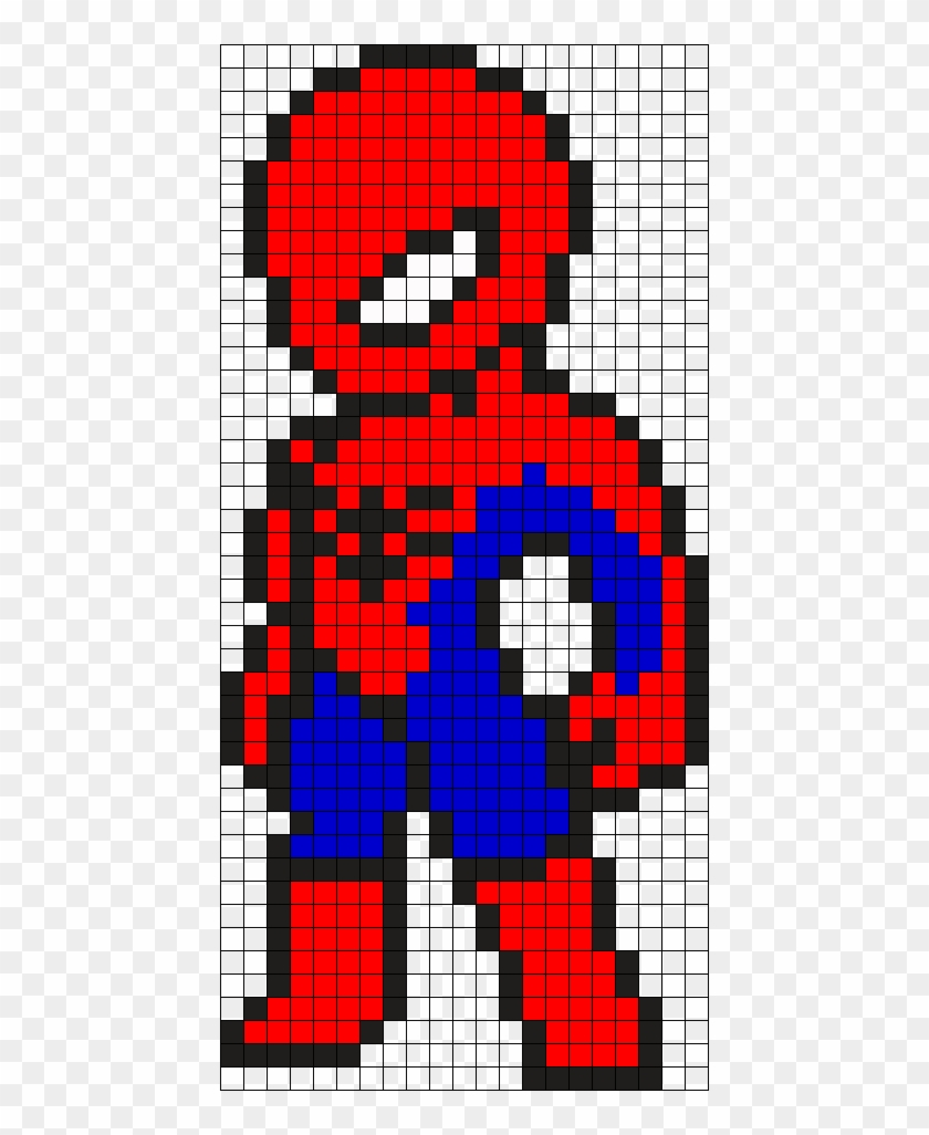 Spiderman Perler Bead Pattern / Bead Sprite - Pixel Art Spiderman Clipart #5097380