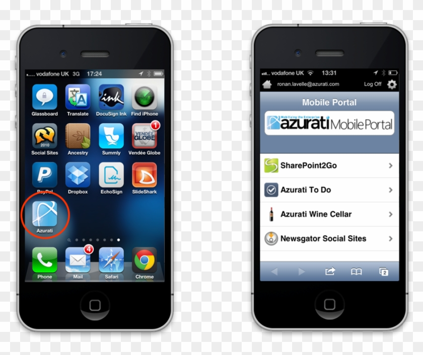 Azurati Mobile Portal For Html5 Mobile Applications2 - Iphone 4 Clipart #5098600