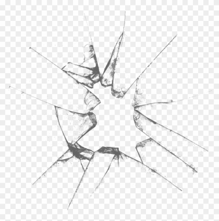 Broken Glass Transparent Background - Transparent Glass Crack Png Clipart #510461