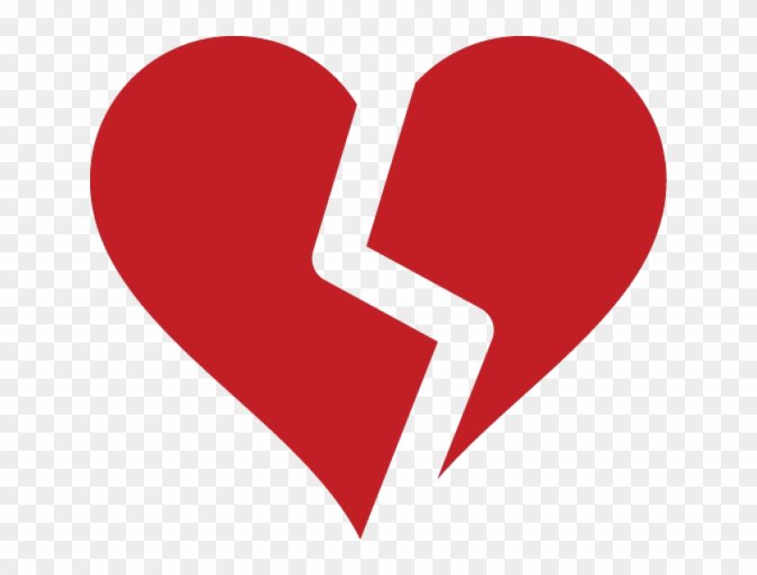 Broken Heart Symbol - Broken Heart Clipart Png, Transparent Png #511085