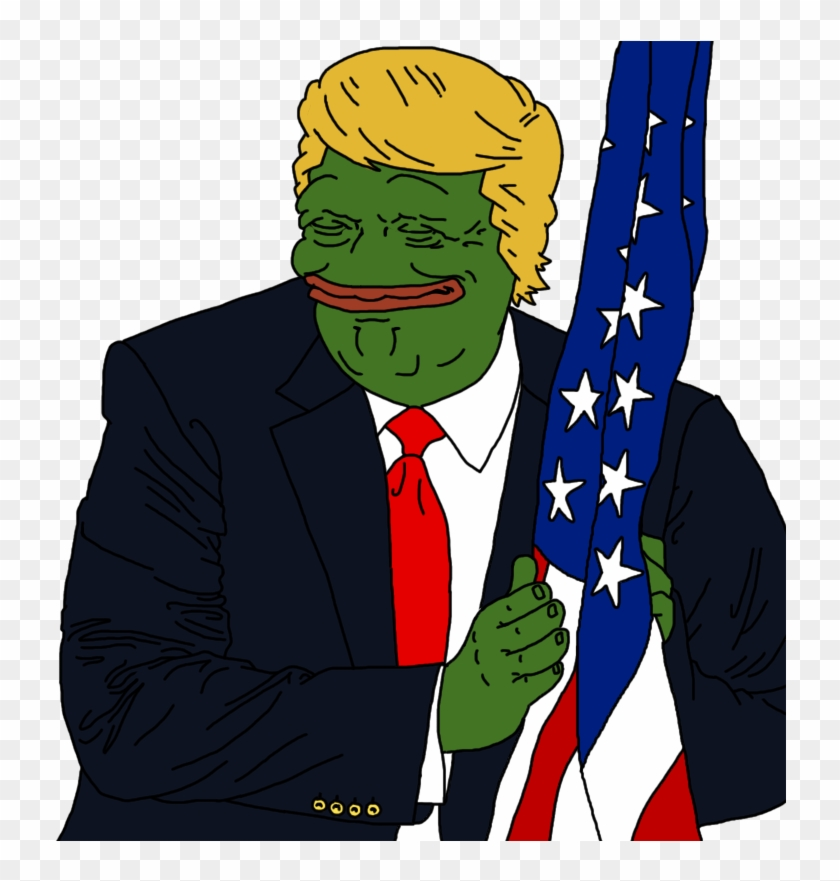 Geotus's Face After Firing Off That Scorching Tweet - Donald Trump Pepe Flag Clipart #516651