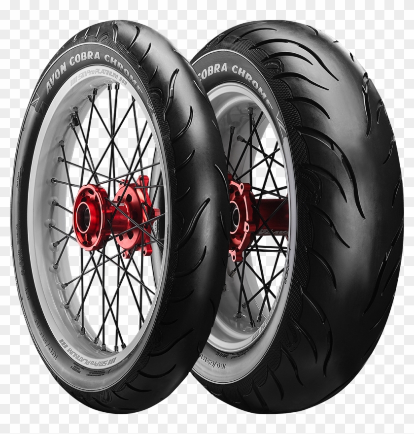 Motorcycle Tyres - Avon Cobra Chrome Tires, HD Png Download #516797