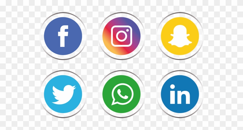 Png Social Media Icons - Transparent Background Social Media Icons Png Clipart #519306