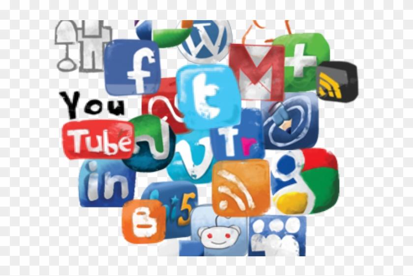 Social Media Icons Clipart New Media - Clipart Social Media Png Transparent Png #519486