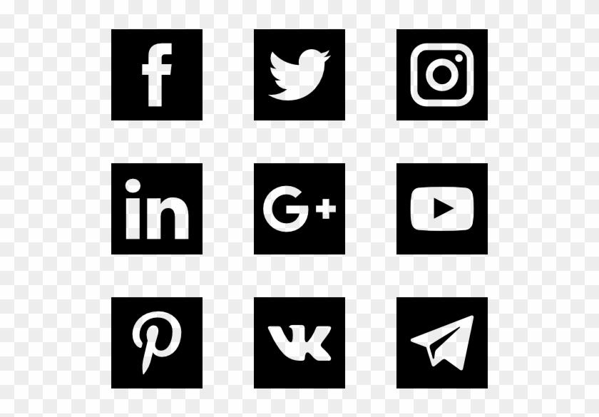 Solid Social Media Logos - Logo Sosial Media Png Clipart #519515