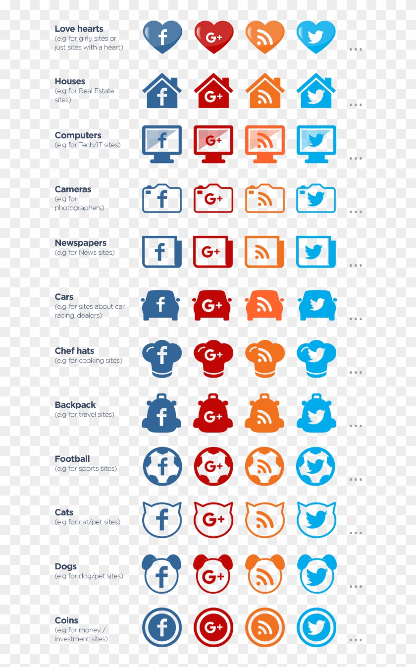 Themed Icons - Social Media Icons Cat Clipart #519646