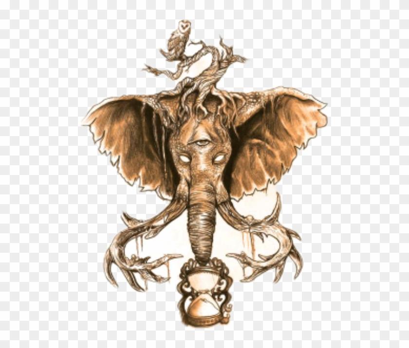 #remixit #dailysticker #animal #kingdom #elephant #owl - Elephant With Third Eye Drawing Clipart #5100387