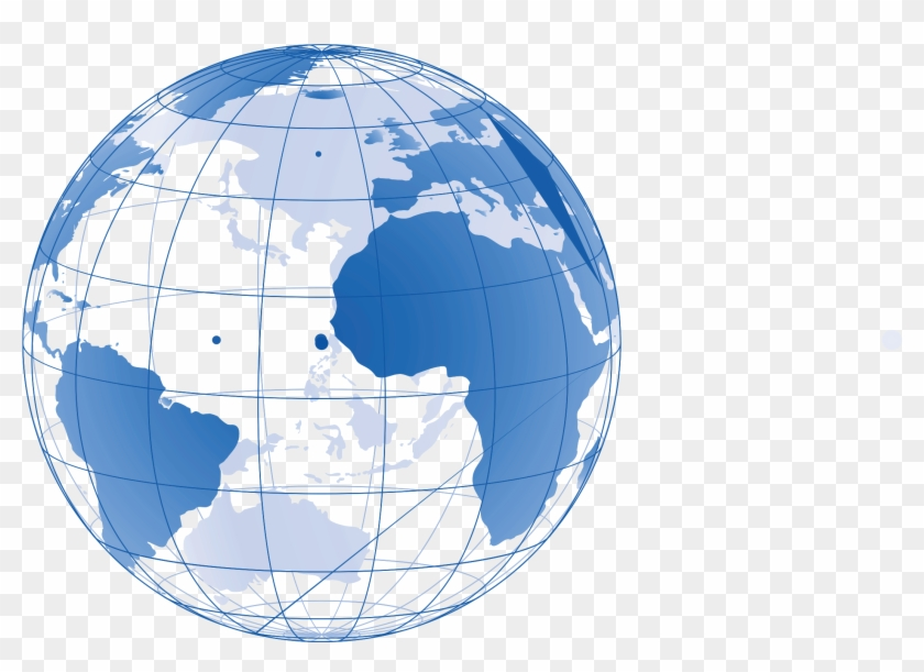 Global Map Png - World Map Globe Vector Clipart #5105250