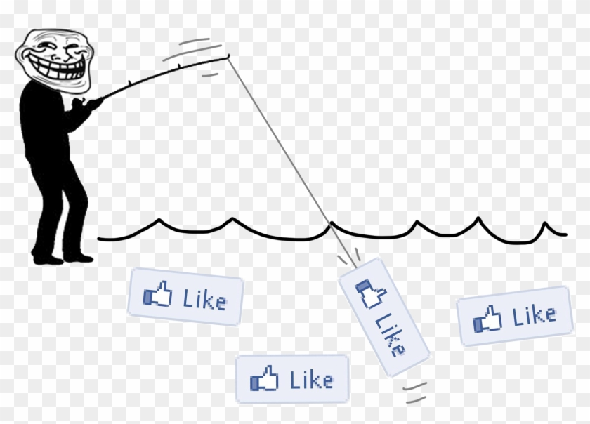 Fishing For Likes - Fishing For Likes Facebook Clipart #5106784