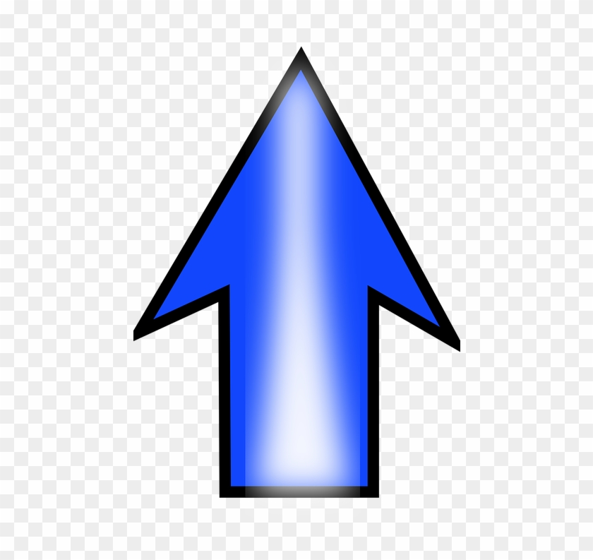 Arrow Up Blue Pointing Direction Symbol Sign - Blue Arrow Pointing Up Clipart #5107444