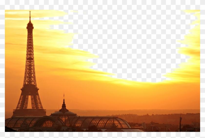 #eiffeltower #sunset #sky #sunny - Tour Eiffel Lever De Soleil Clipart #5109274