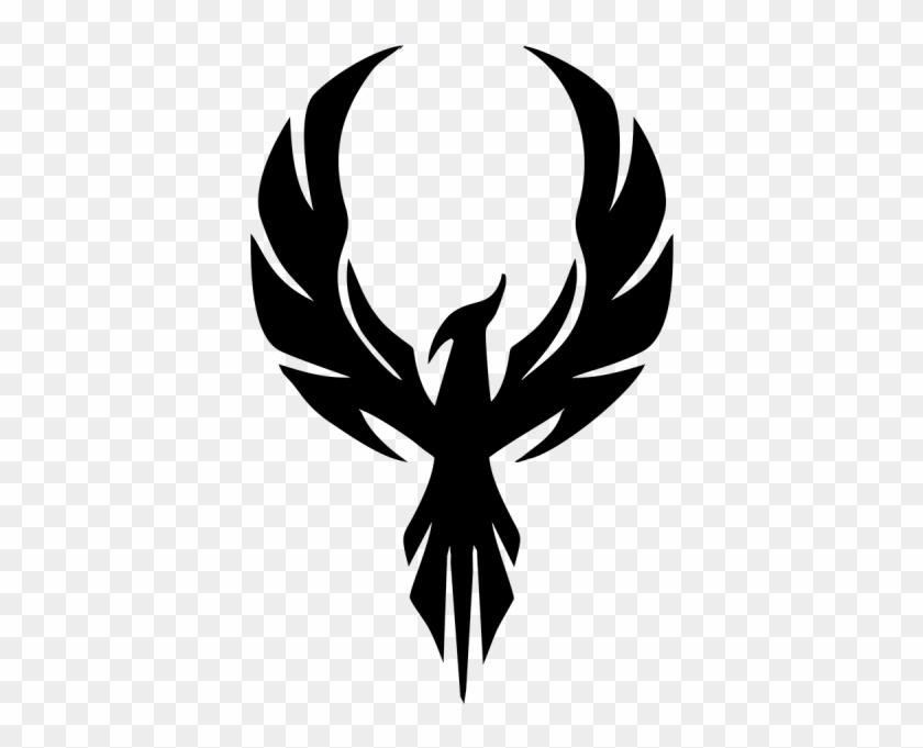 Eagle Phoenix Fire - Silhouette Of A Phoenix Clipart #5111251