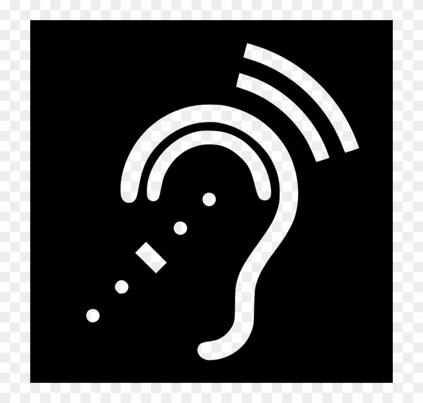 Hearing Deaf Disabled Listening Hearing Aids - Hearing Impaired Symbol Clipart #5133431