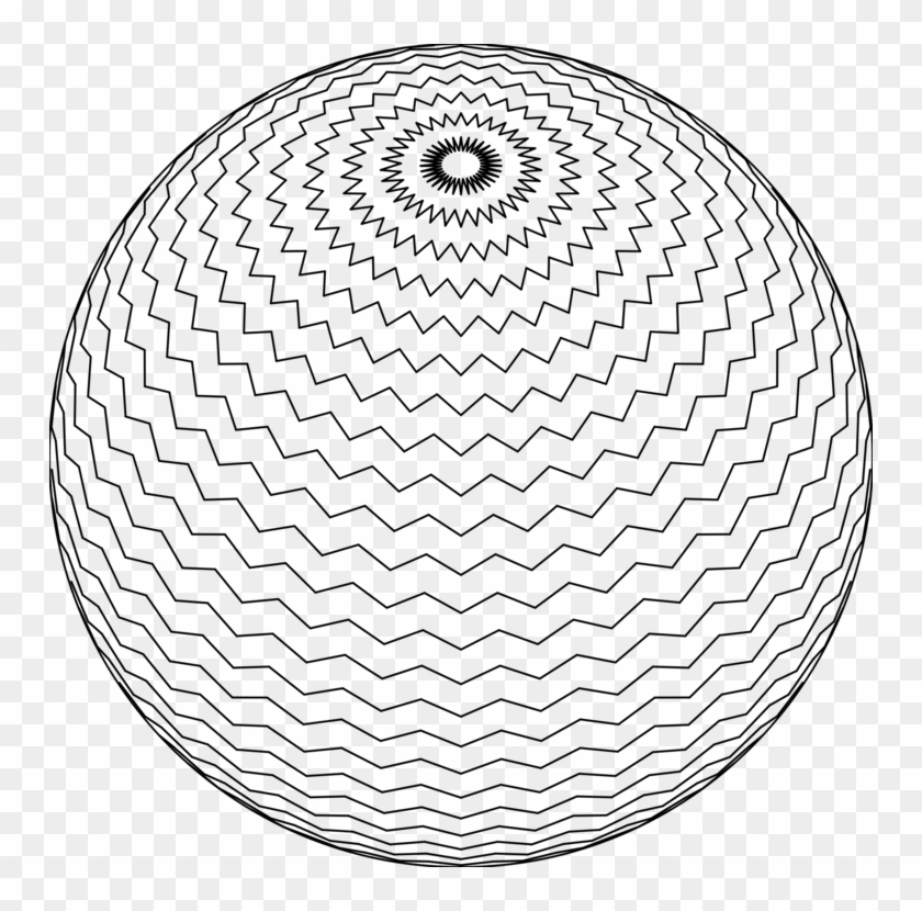 Sphere Drawing Computer Icons Black And White - Crochet Zig Zag Skirt Clipart #5135069