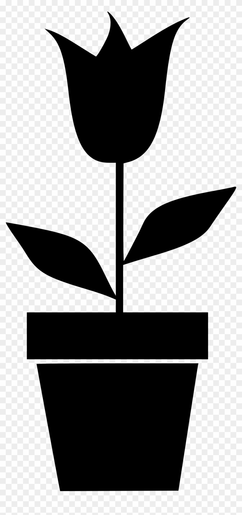 This Free Icons Png Design Of Potted Plant 5 - Flower Pots Clipart Black White Transparent Png #5136212