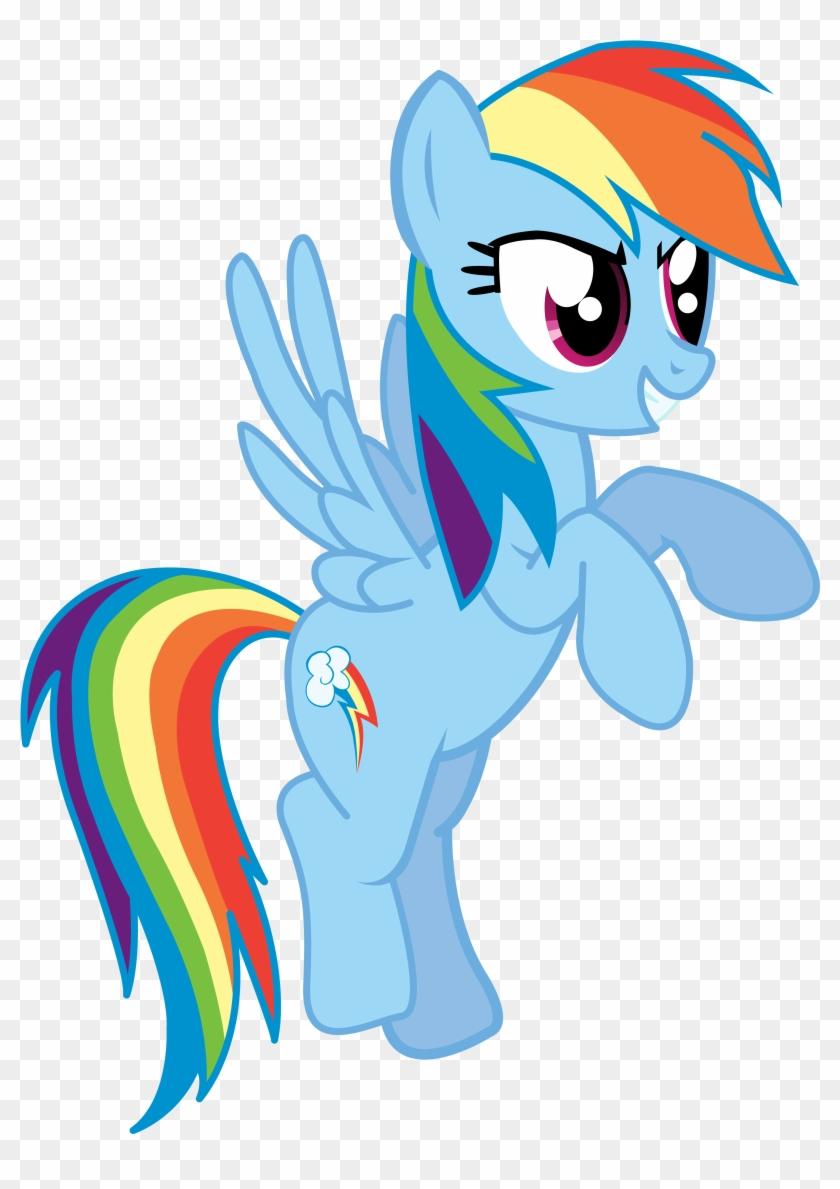 Rainbow Dash Thinks She's Really Overdoing It - Colour Is Rainbow Dash Clipart #5136363