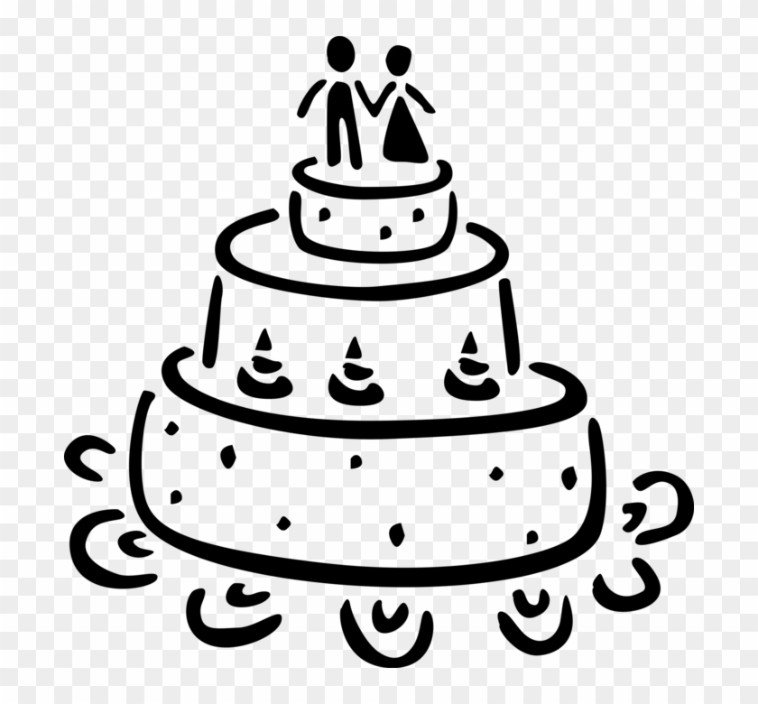 Cake Vector Png - Wedding Cake Vector Png Clipart #5136852