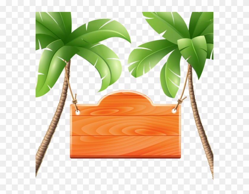 Beach Clipart, Frame Clipart, Cute Clipart, Borders - Tropical Background Clipart Hd - Png Download #5152769