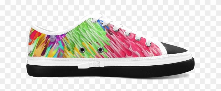 Paint Splashes By Artdream Women's Canvas Zipper Shoes - Skate Shoe Clipart #5154132