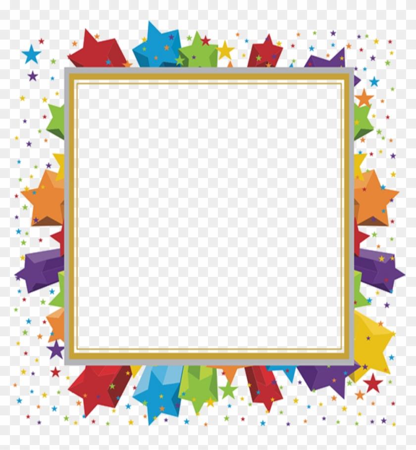 #mq #star #stars #frame #frames #border #borders - Colored Frame Png Clipart #5155578