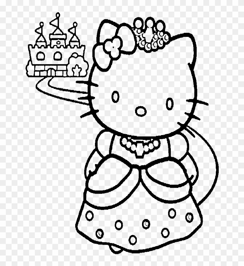 Hello Kitty Coloring Pages Transparent Background Hello Kitty Castle Coloring Page Clipart 5160625 Pikpng