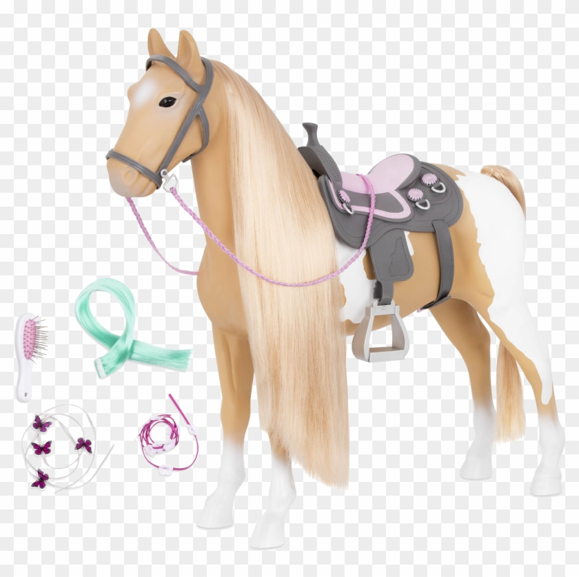 Palomino Hairplay Horse All Components - Our Generation Palomino Paint Horse Clipart #5177499